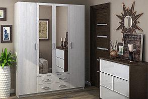Шкаф для одежды 4Д Квадро, Анкор Анкор светлый, Стендмебель (Россия), фото 2