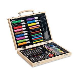 Набор художника в деревянной коробке