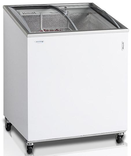 Ларь морозильный со стеклянной гнутой крышкой TEFCOLD NIC200SCEB-I