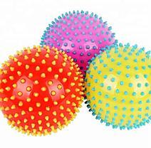 Массажер ежик, массажный мячик для фитнеса 12 см (цвет оранжевый,фиолетовый,зелёный), фото 3