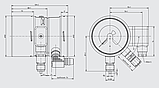 Монитор плотности газа со встроенным преобразователем Модель GDM-100-TI, фото 2