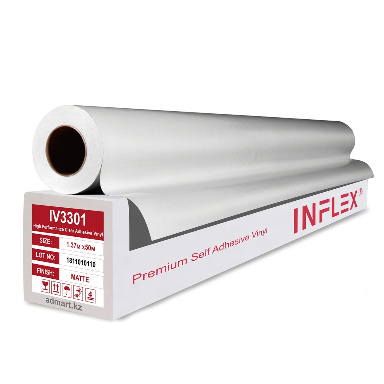 Матовая полимерная пленка INFLEX PREMIUM (140гр) 1,37мХ50м