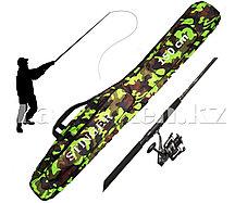 Чехол для удочки Stinger цвета камуфляж 150 см (2 основных и 2 вспомогательных отделения)