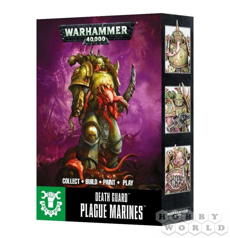 Warhammer 40000: EASY TO BUILD DEATH GUARD PLAGUE MARINES