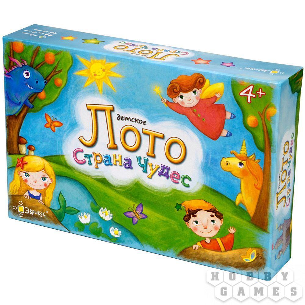 Настольная игра: Лото детское. Страна чудес