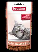 Подушечки Salmon Malt Bits для выведения шерсти из желудка у кошек, Beaphar - 35 г