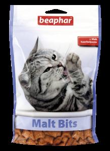 Подушечки Malt Bits для выведения шерсти из желудка кошек, Beaphar - 35 г