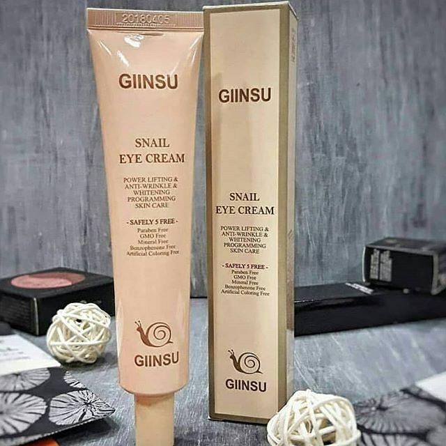 Giinsu Snail Eye Cream - Крема для век и кожи вокруг глаз с улиткой