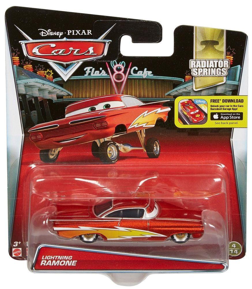 """Cars / Тачки """"Radiator Springs"""" Металлическая модель Молния Рамон"""