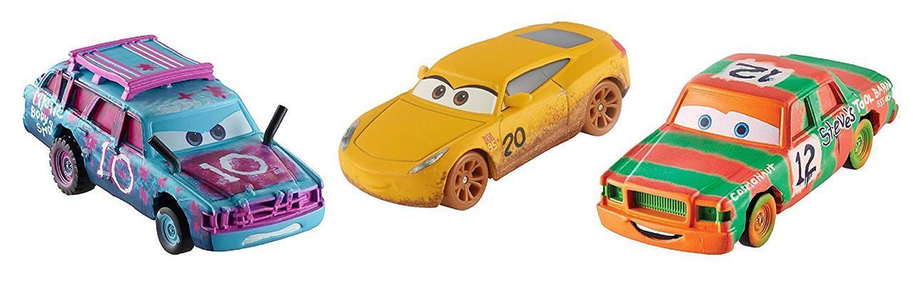 "Cars / Тачки ""Тачки 3"" Набор из 3-х машинок ""Сумасшедшая 8"" в коробке"