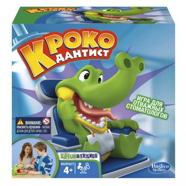 "Hasbro Games Игра ""Кроко Дантист"""