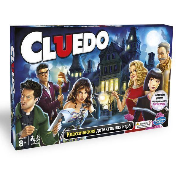 """Hasbro Games Настольная игра """"Клуэдо - Встречайте нового подозреваемого"""", перевыпуск"""