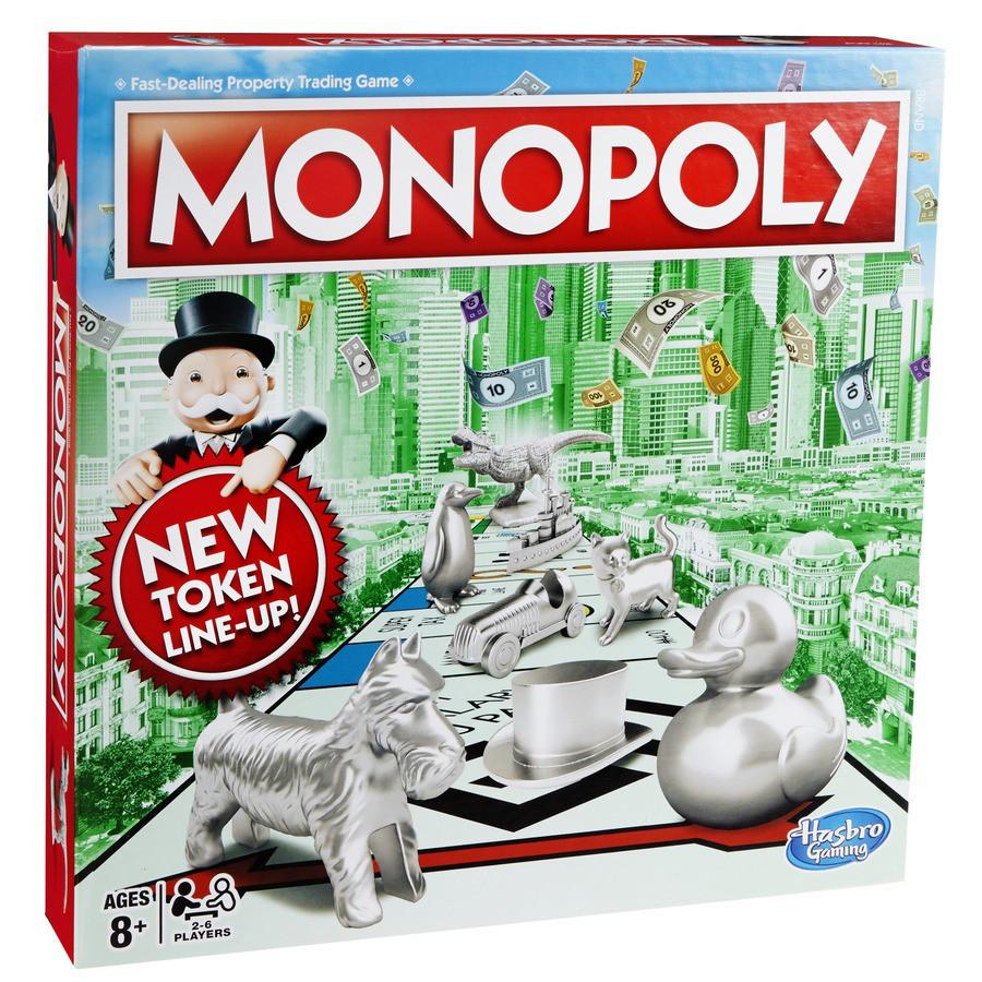 """Hasbro Настольная игра """"Монополия"""" (классическая, новый комплект фишек)"""