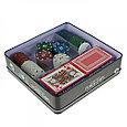 Набор для покера Poker set: карты 2 колоды, фишки 100 шт, фото 2