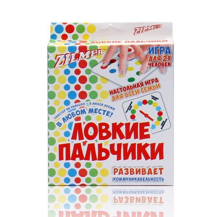 """Настольная игра """"Ловкие пальчики"""" - Твистер на пальцах"""