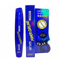 JIGOTT Power Curling Cat's Eye Mascara 12ml - Тушь для ресниц подкручивающая 12мл