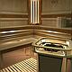 Деревянное ограждение HRE2 со светильниками для Harvia Elegance, фото 8