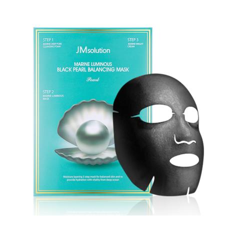 Трёхступенчатая маска для сияния кожи JMsolution Marine Luminous Black Pearl Balancing Mask (штучно), фото 2