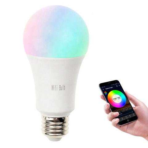 Умная лампочка светодиодная ELARI LMS-27RGB с голосовым/дистанционным управлением