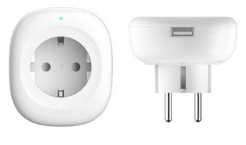Умная розетка с голосовым/дистанционным управлением и выходом USB Elari Smart Socket