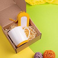Набор подарочный MATISSE`TEAS: кружка, зарядное устройство, коробка, стружка, желтый, Желтый (Pantone 106C),