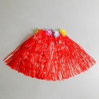 Юбка 'Гаваи' Красная, короткая, 40 см