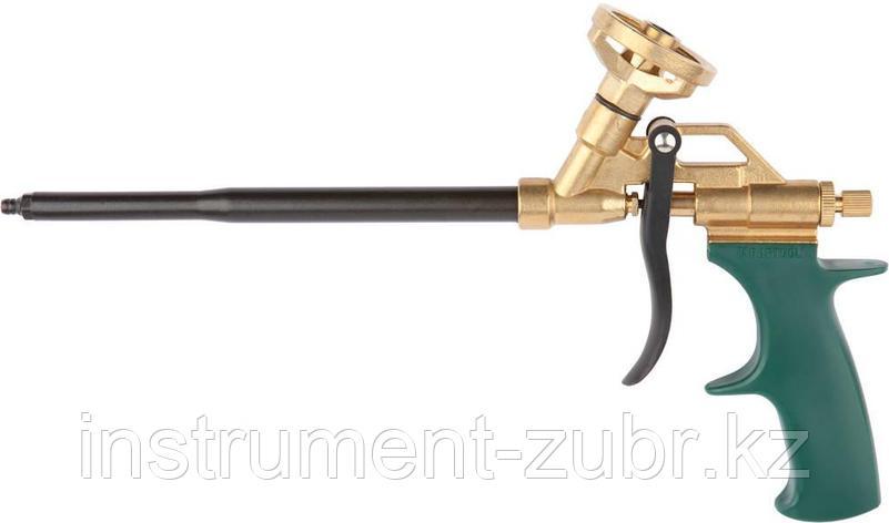"""Пистолет """"GL-Kraft"""" для монтажной пены, полностью латунный корпус, KRAFTOOL, фото 2"""