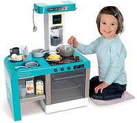 Кухня Smoby Tefal Cheftronic электронная (кипение, свет и звук) голубая