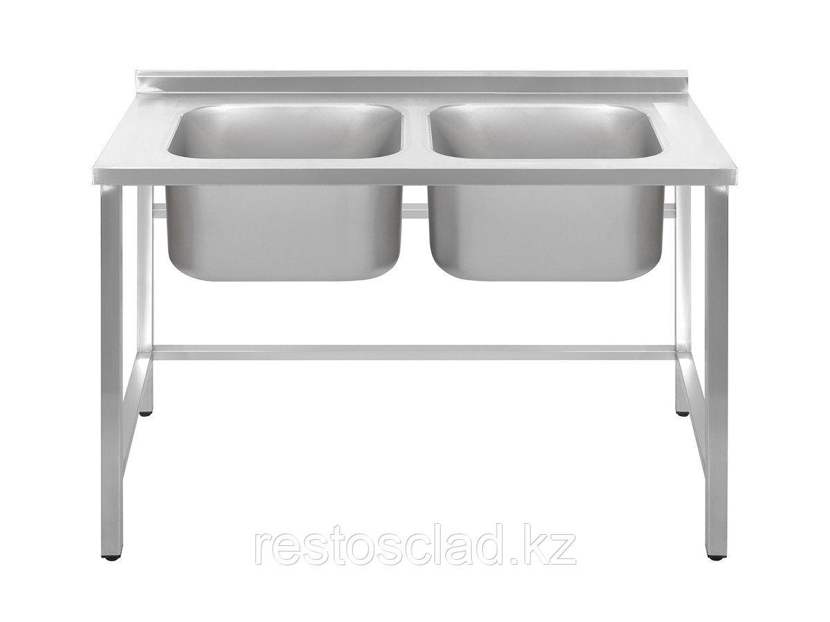 Ванна моечная двухсекционная Luxstahl  ВМ2 12/6/8.5 (0.8) без фартука