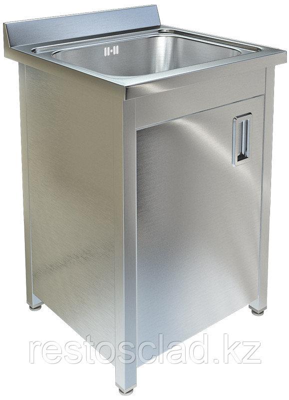 Ванна моечная односекционная с распашной дверкой ТЕХНО-ТТ ВМ-16/557 нерж