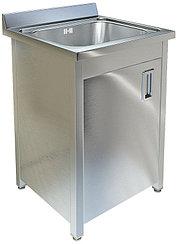 Ванна моечная односекционная с распашной дверкой ТЕХНО-ТТ ВМ-16/657 нерж