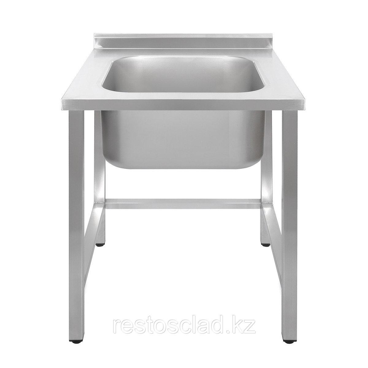 Ванна моечная односекционная Luxstahl ВМ1 7/7/8.5 (0.8) без фартука