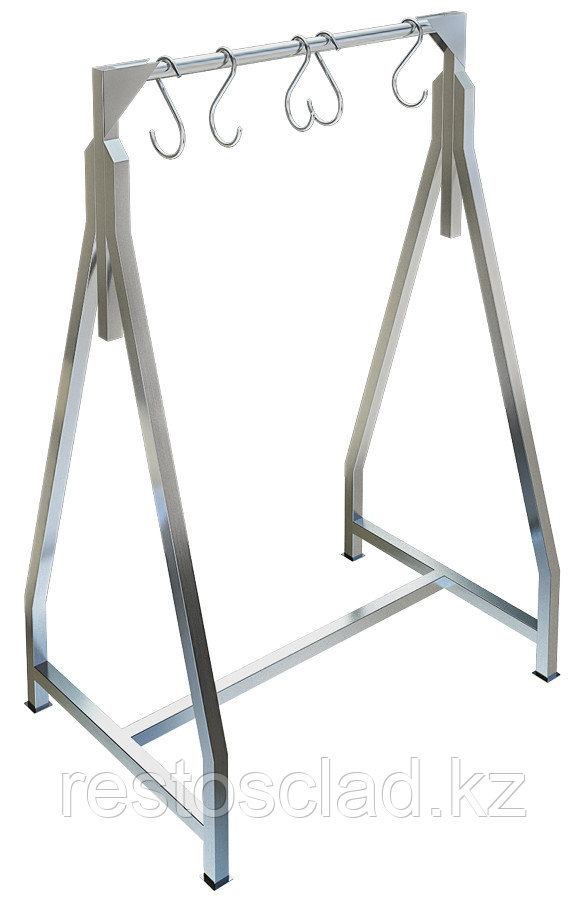 Стеллаж разборный для подвешивания мяса ТЕХНО-ТТ СТР-931 (вешало) треугольной формы