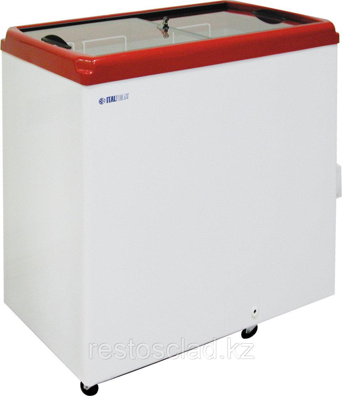 Ларь морозильный ITALFROST CF 200F красный