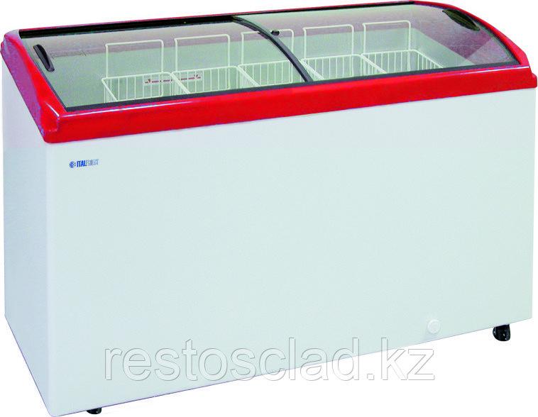 Ларь морозильный ITALFROST CF 400C красный