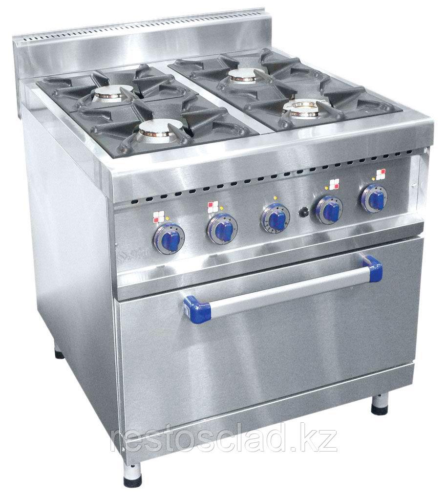 Плита газовая ABAT ПГК-49ЖШ четырехгорелочная с жарочным шкафом (серия 900)