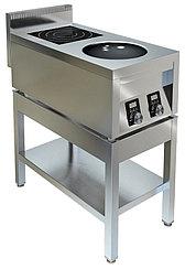 Плита индукционная ТЕХНО-ТТ ИПК-210114 двухконфорочная плоская и ВОК