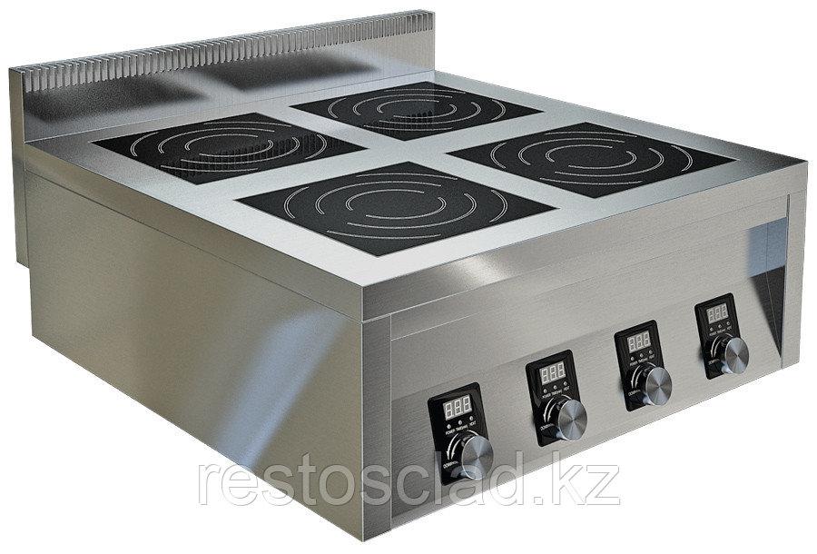 Плита индукционная ТЕХНО-ТТ ИПП-410145 четырехконфорочная плоская