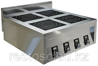Плита индукционная ТЕХНО-ТТ ИПП-410134 четырехконфорочная плоская