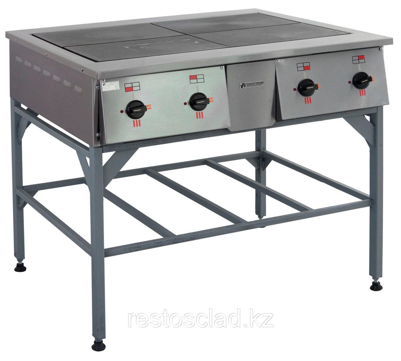 Плита электрическая ТУЛАТОРГТЕХНИКА ПЭ-0.48Н четырехконфорочная без жарочного шкафа
