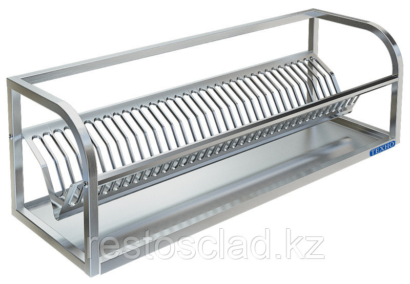 Полка настенная для сушки посуды ТЕХНО-ТТ ПН-319/900 (на 35 тарелок)