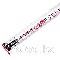 Рулетка Magnetisch, 8м х 25мм, обрезин. корпус,автоматич. фиксация, нейлон. покр.,магн.зацеп// Gross, фото 2