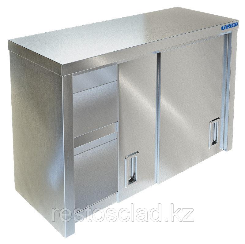 Полка-шкаф настенная закрытая ТЕХНО-ТТ ПН-422/1500 (двери-купе)