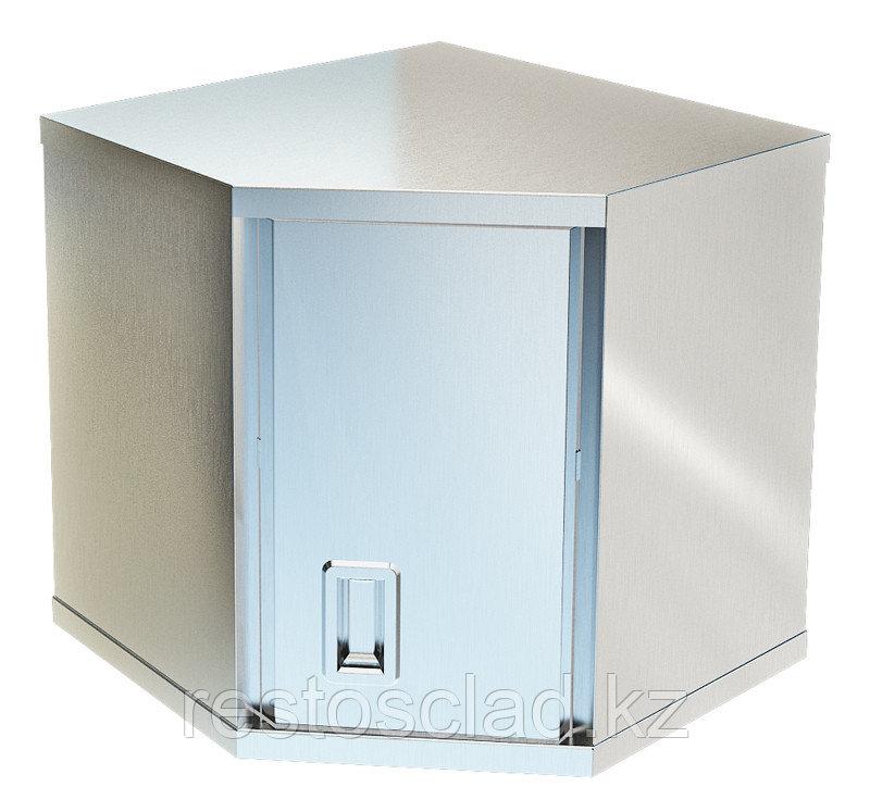 Полка-шкаф настенная закрытая угловая ТЕХНО-ТТ ПН-122/606У с дверкой