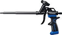 """Пистолет для монтажной пены """"ТИТАН"""", металлический корпус, тефлоновое покрытие, ЗУБР"""