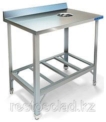 Стол пристенный для сбора отходов ТЕХНО-ТТ СПС-211/600 краш (отверстие в центре)