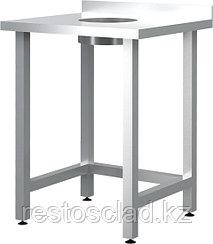 Стол пристенный для сбора отходов CRYSRI ССО 600/600/ССОП Э оц (отверстие в центре)
