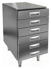 Дополнительный модуль к столу для пиццы HICOLD PZ 6R для хранения заготовок из теста