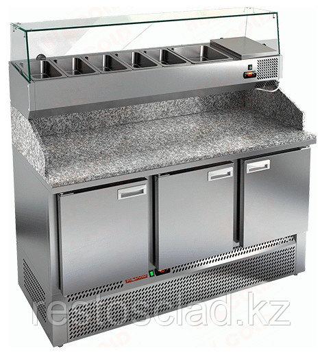 Стол охлаждаемый для пиццы HICOLD PZE3-111/GN с гранитной столешницей без витрины