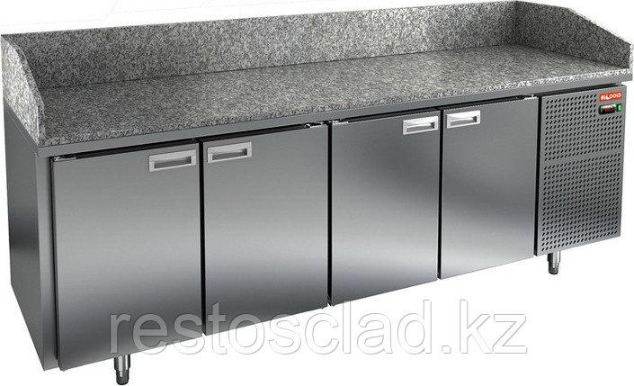 Стол охлаждаемый для пиццы HICOLD PZ3-1111/GN с гранитной столешницей без витрины